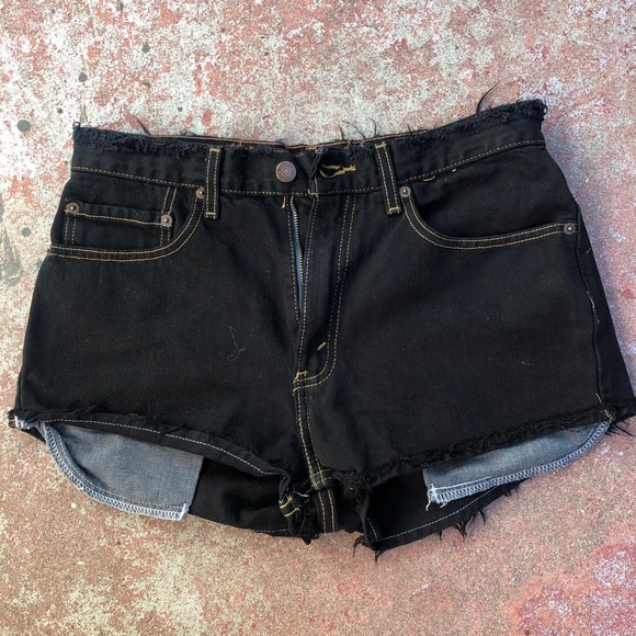 Levi's Signature black Cutoff Jean Shorts 32